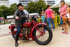 Estilo de vida - motociclistas no passeio Fotos de Stock