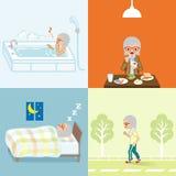 Estilo de vida saudável ajustado - mulheres superiores ilustração royalty free