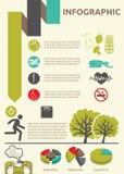 Estilo de vida saudável infographic ilustração stock