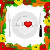 Estilo de vida saudável saúde cardiogram ilustração stock