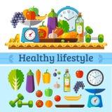 Estilo de vida saudável, uma dieta saudável Foto de Stock Royalty Free