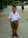 estilo de vida tailandês do estudante do â na escola tailandesa. Fotografia de Stock Royalty Free