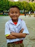 estilo de vida tailandês do estudante do â na escola tailandesa. Imagem de Stock Royalty Free