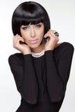 Estilo de Vogue. Mujer de la belleza de la moda.  imágenes de archivo libres de regalías