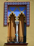 Estilo del árabe de la ventana Foto de archivo