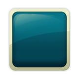 Estilo del Aqua - botón cerúleo Imagen de archivo libre de regalías