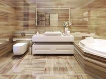 Estilo del art déco del cuarto de baño foto de archivo
