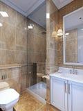 Estilo del art déco del cuarto de baño Imagen de archivo