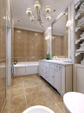 Estilo del art déco del cuarto de baño Fotografía de archivo