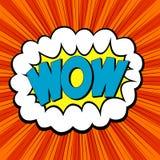 Estilo del arte pop de la palabra wow libre illustration