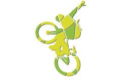 Estilo del arte pop de la silueta de la bici ilustración del vector