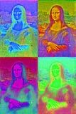 Estilo del arte pop de Mona Lisa stock de ilustración