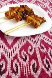 Estilo del asiático de Kebabs foto de archivo