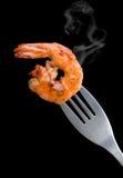 Estilo del Bbq del camarón de la parrilla Fotos de archivo libres de regalías