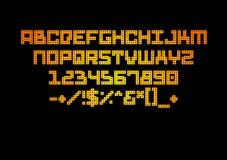 Estilo del color del alfabeto Imagen de archivo libre de regalías