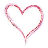 Estilo del creyón del corazón Fotografía de archivo libre de regalías