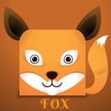 Estilo del cuadrado del zorro de la cara Fotografía de archivo libre de regalías