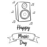 Estilo del día de la música de la celebración de la colección stock de ilustración
