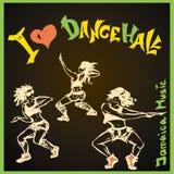 Estilo del dancehall del bailarín, dibujo de la mano Foto de archivo