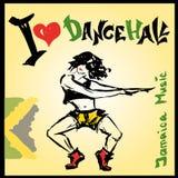 Estilo del dancehall del bailarín, dibujo de la mano Foto de archivo libre de regalías