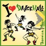 Estilo del dancehall del bailarín, dibujo de la mano Imagenes de archivo