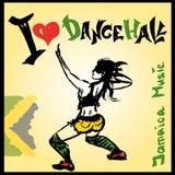 Estilo del dancehall del bailarín, dibujo de la mano Imagen de archivo