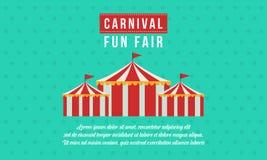 Estilo del diseño del funfair del carnaval de la bandera libre illustration
