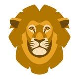 Estilo del ejemplo del vector de la cabeza de la cara del león sin pliegues stock de ilustración