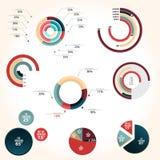 Estilo del gráfico de sectores Imágenes de archivo libres de regalías