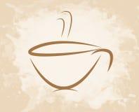 Estilo del grunge de la taza de café Imagenes de archivo