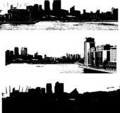 Estilo del grunge del paisaje urbano de Londres Fotografía de archivo