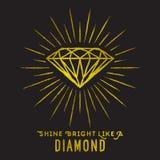 Estilo del inconformista de la forma del diamante en luz de la estrella Foto de archivo