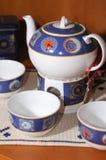 Estilo del inglés de la taza de té Imagenes de archivo