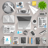Estilo del negocio del vector. sistema 1 Imagen de archivo libre de regalías