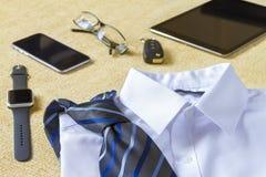 Estilo del negocio, ropa y concepto de los objetos Foto de archivo libre de regalías