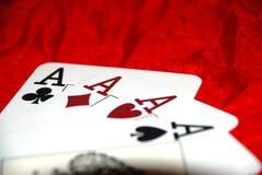 Estilo del póker Imagen de archivo libre de regalías