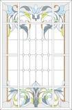 Estilo del panel/del art nouveau del cristal de colores libre illustration