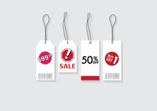 estilo 4 del precio y de la venta de la etiqueta Imagen de archivo