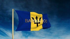 Estilo del resbalador de la bandera de Barbados con título El agitar adentro libre illustration