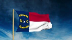 Estilo del resbalador de la bandera de Carolina del Norte El agitar en libre illustration
