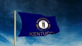 Estilo del resbalador de la bandera de Kentucky con título El agitar adentro libre illustration
