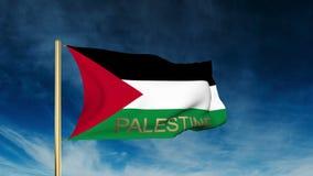Estilo del resbalador de la bandera de Palestina con título El agitar adentro libre illustration