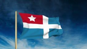 Estilo del resbalador de la bandera del estado del Cretan El agitar en el triunfo stock de ilustración