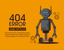 Estilo del robot del error 404 Foto de archivo