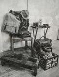 Estilo del tono del color del vintage de la ropa y de los accesorios masculinos Fotos de archivo