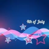 Estilo del vector el 4 de julio Fotos de archivo libres de regalías