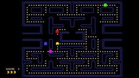 estilo del videojuego 80s del vintage metrajes