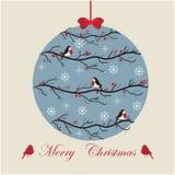 Estilo del vintage de la bola de la Navidad Imagen de archivo libre de regalías