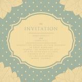 Estilo del vintage de la invitación scrapbooking Fotografía de archivo