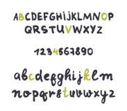 Estilo descuidado de la fuente hecho a mano Alfabeto del diseño Foto de archivo libre de regalías